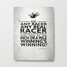 Ask Any Racer Metal Print