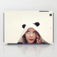 onesie iPad Cases featuring Panda Onesie Nomi by Naomi Shingler