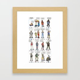 NBA Ageisms Framed Art Print