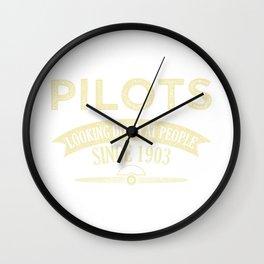 Pilot Proud Aviation Lover Gift Idea Wall Clock