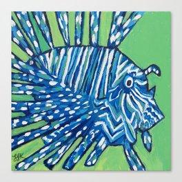 Lion Fish 2, a pretty predator & invasive species Canvas Print