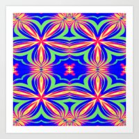psychedelic art Art Prints featuring Psychedelic  by 2sweet4words Designs