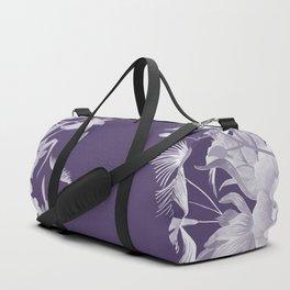 Stardust Violet Indigo Floral Motif Duffle Bag