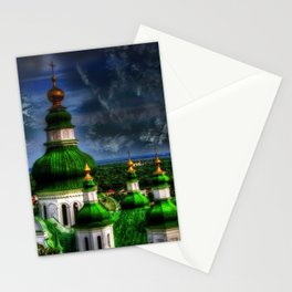 Domes of Trinity Cathedral, Chernigov, Ukraine Stationery Cards