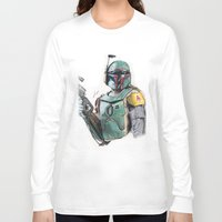 boba fett Long Sleeve T-shirts featuring Boba Fett by lunaevayg