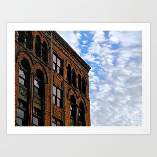 Corner of Main St. & Sky Art Print