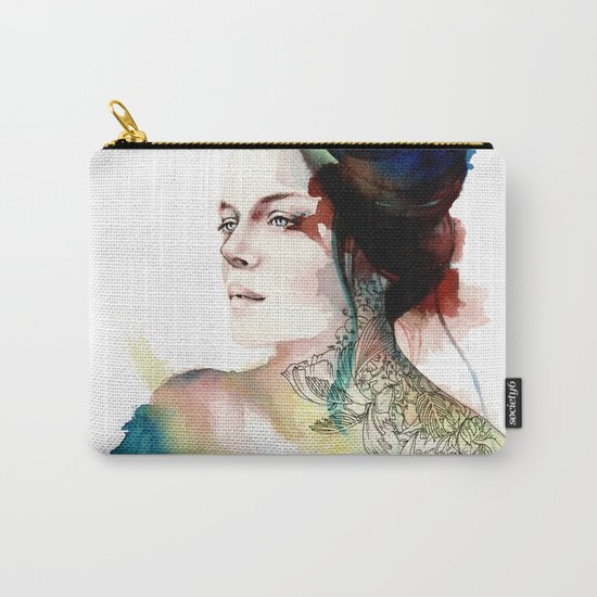 blossoming tattoos Carry-All Pouch