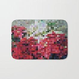 Mixed color Poinsettias 3 Mosaic Bath Mat