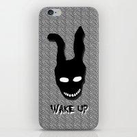 donnie darko iPhone & iPod Skins featuring Donnie Darko Wake Up by Grace