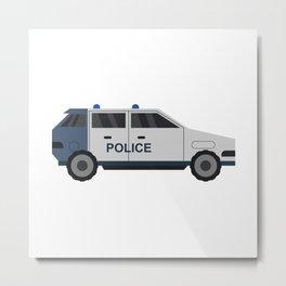 police car Metal Print