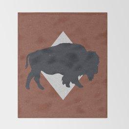 Bison & Blue Throw Blanket