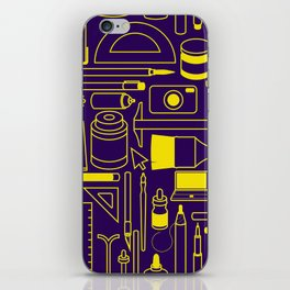 Art Supplies - Eggplant and Yellow iPhone Skin