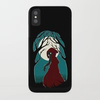 red hood iPhone & iPod Cases featuring Red Riding Hood 2 by Freeminds
