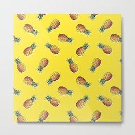 abacaxi yellow Metal Print