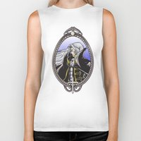 castlevania Biker Tanks featuring Dracula's Dhampir by CaptainSunshine