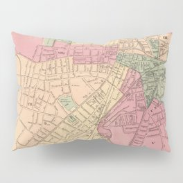 Vintage Map of Worcester MA (1871) Pillow Sham