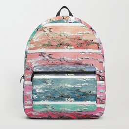 Vincent Van Gogh : Almond Blossoms Rainbow Panel ART Backpack
