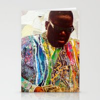 biggie smalls Stationery Cards featuring Biggie by Katy Hirschfeld