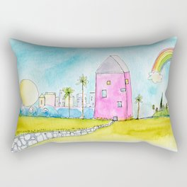 Best of Both Worlds by Kae Pea Rectangular Pillow