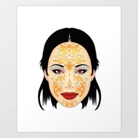 asia Art Prints featuring Asia by Au Courant