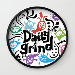 Daily Grind - white Wall Clock