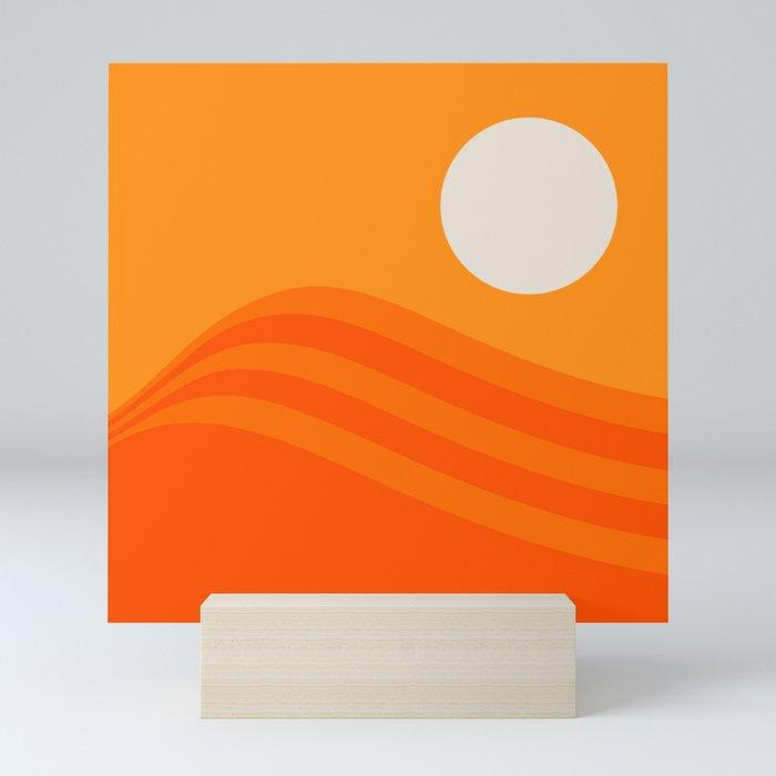Swell - Orange Crush Mini Art Print by circa78designs