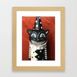 Halloween Clown Kitty Framed Art Print