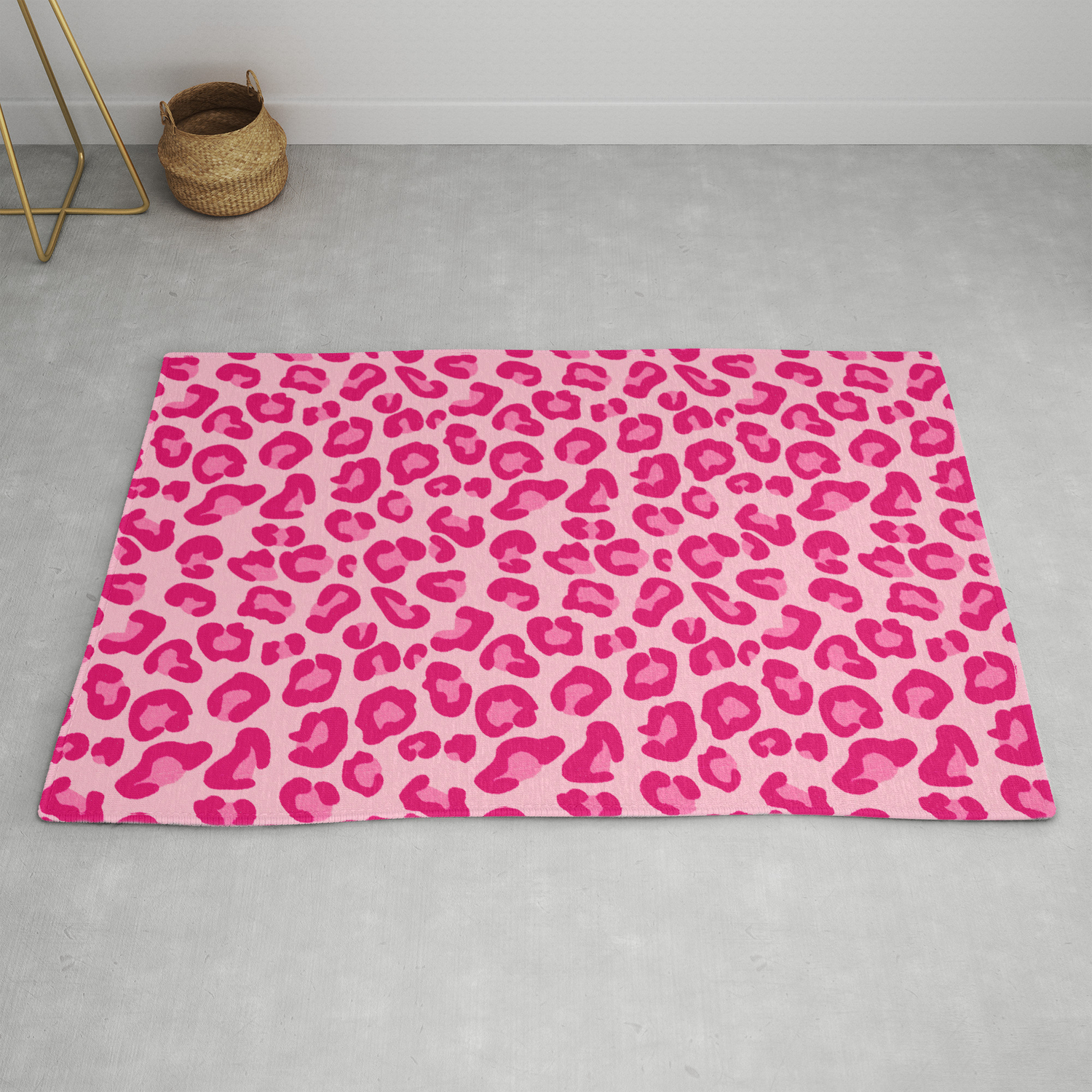 Picture of: Leopard Print In Pastel Pink Hot Pink And Fuchsia Rug By Mmgladn10 Society6