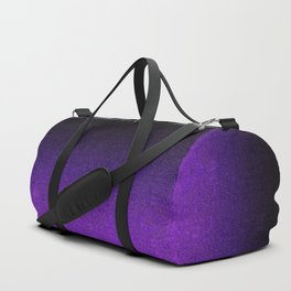 Purple & Black Glitter Gradient Duffle Bag
