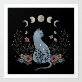 Cat on the Hill Art Print