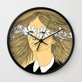 Flowers in My Eyes (Life in a Glimpse) Wall Clock