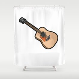 GUITAR PLAYER GUITARIST E-GUITAR  acoustic guitar Shower Curtain