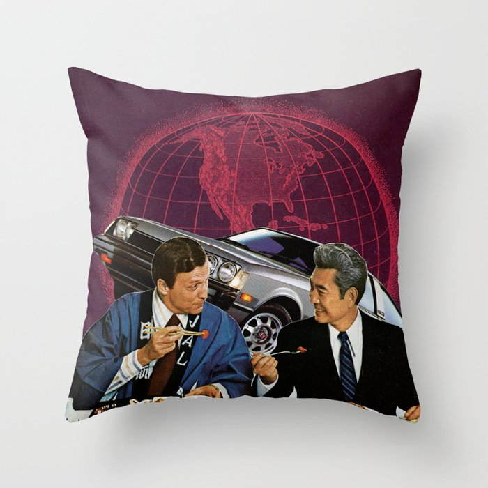 Power Lunch Throw Pillow