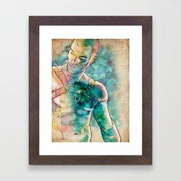Gay Leather Daddy Framed Art Print