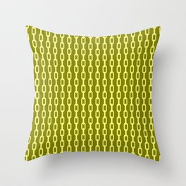 Chainlink No. 1 -- Yellow Throw Pillow