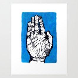 finger friends Art Print