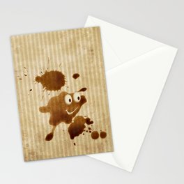 The Smile of Coffee Drop - Old Paper Style Stationery Cards