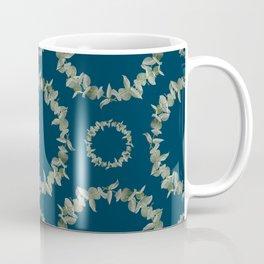 Eucalyptus Patterns with Navy Blue Background Realistic Botanic Patterns Organic & Geometric Pattern Coffee Mug
