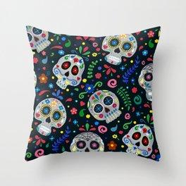 Dia de los Muertos Calaveras/Sugar Skulls Throw Pillow