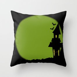 Halloween House Throw Pillow