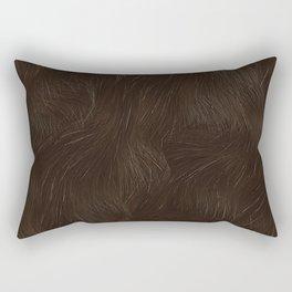 bear skin animal texture brown Rectangular Pillow