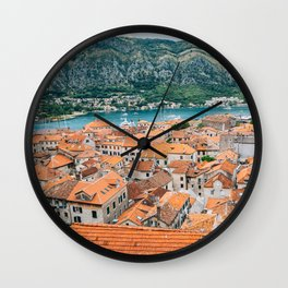 Kotor old town Wall Clock