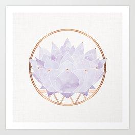 Lavender Lotus Blossom Art Print