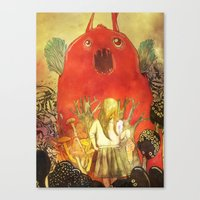 nightmare Canvas Prints featuring nightmare by Oscar Civit