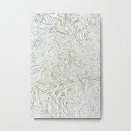 Grey marble surface pattern Metal Print