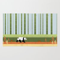 bamboo Area & Throw Rugs featuring Bamboo by Kakel