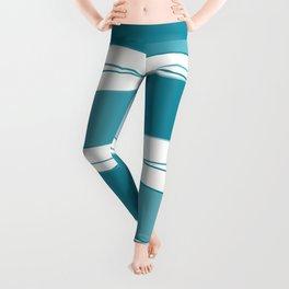 White and blue Leggings