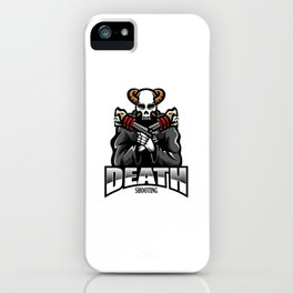 Skull Gunners Esport Mascot Logo iPhone Case