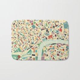 CITY OF LONDON MAP ART 01 Bath Mat