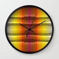quilt Wall Clocks featuring Quilt Pattern  by Zenya Zenyaris